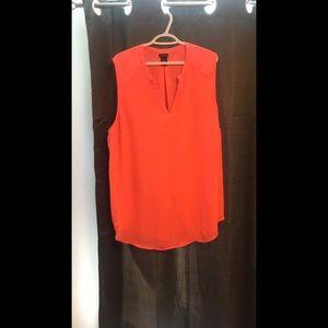 Torrid sleeveless dress shirt